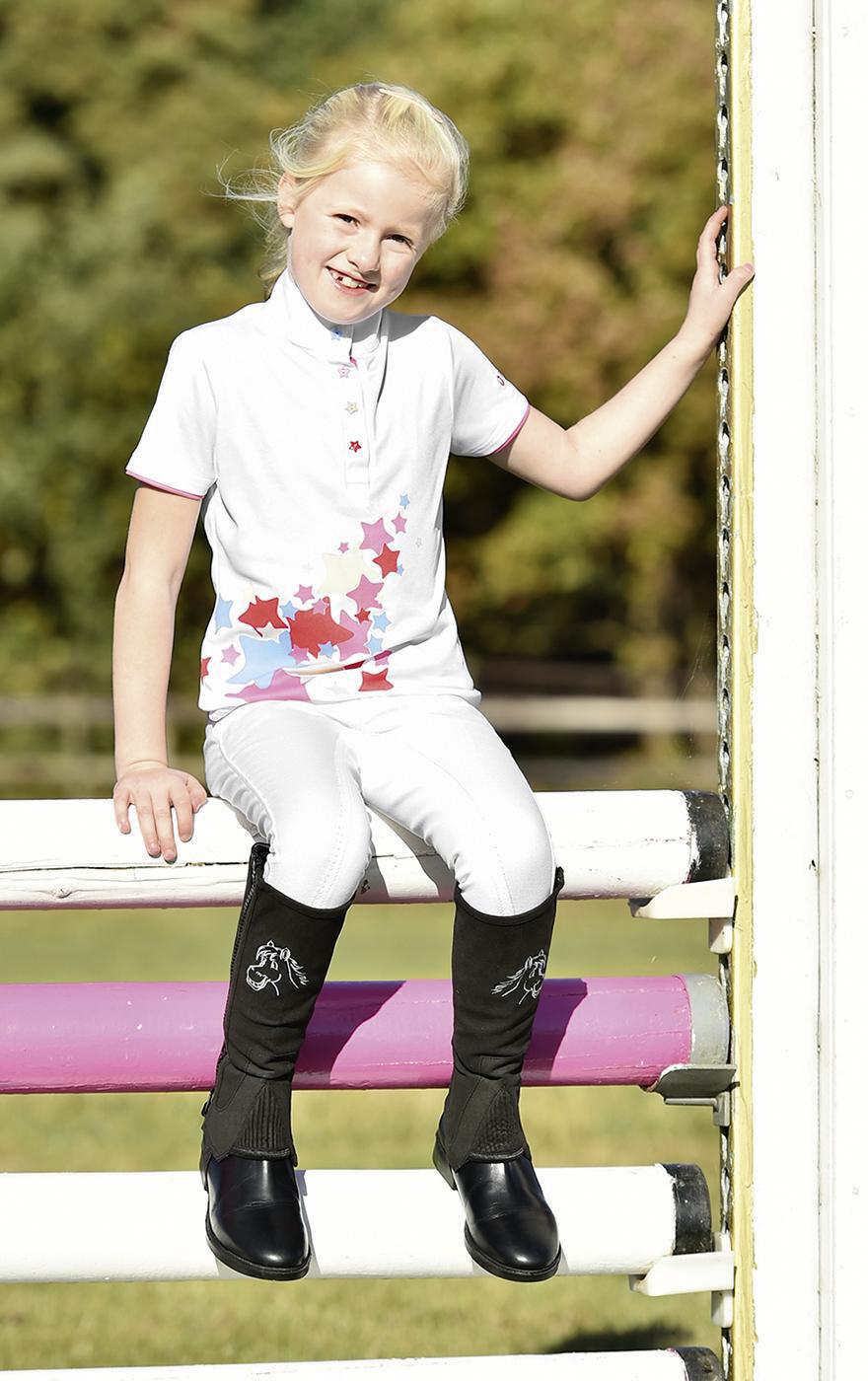 New Kids Girls Fun comfortable Weiß strech show shirt -Easy Care 134 140 cm