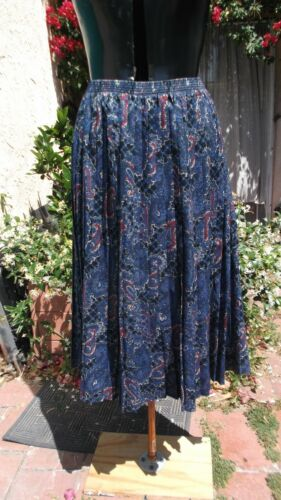 Knife Mad Liberty degli Skirt London London Knife Vintage Pleat '70 1970s Vintage 32 Pleat Skirt anni Of 32 Paisley Of Mad Liberty Paisley ErEzSqA