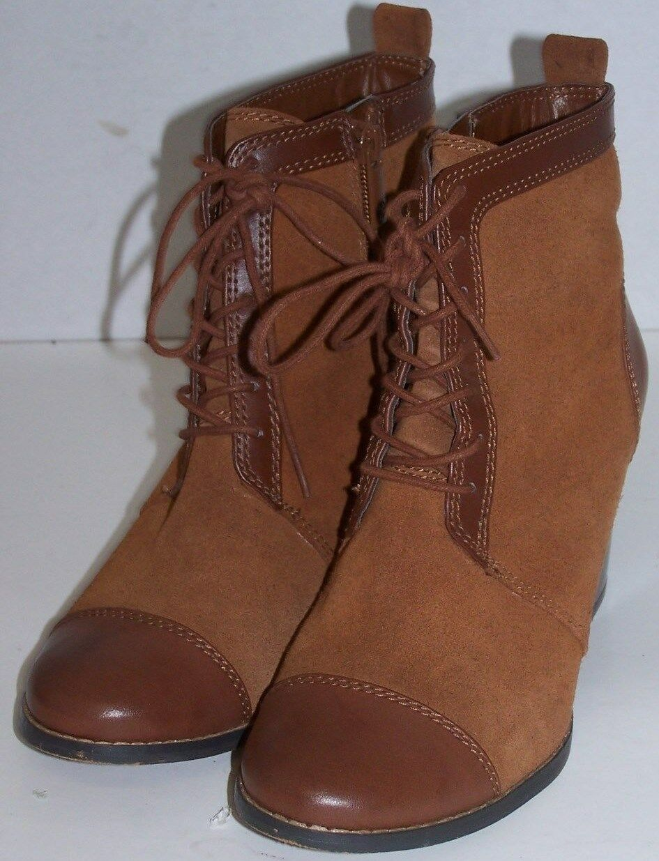 WOMEN SHOES GIANI BERNINI BROWN ANKLE BOOTS Size 7.5M BROWN BERNINI LEATHER 9eb975