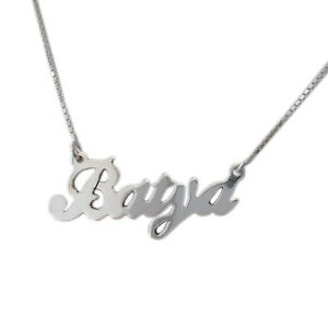 Name necklace 925 pure silver personalized pendant jewelry woman image is loading name necklace 925 pure silver personalized pendant jewelry aloadofball Gallery