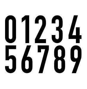 10-Autocollant-20cm-Noir-din-1451-Chiffres-Numero-N-Maison-Verkehrsschrift