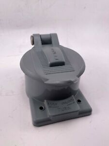 Hubbell-P-5259-Receptacle-Cover-Used