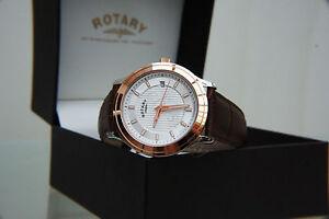 NEU-Rotary-Rose-Vergoldet-Schweizer-Uhr-Herren-Light-Weight-Watch-RRP-180-Boxed