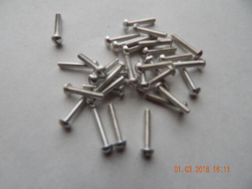 "NEW ALUMINUM ROUND HEAD SLOTTED MACHINE SCREW 6//32 x 3//4/""  25 PCS"