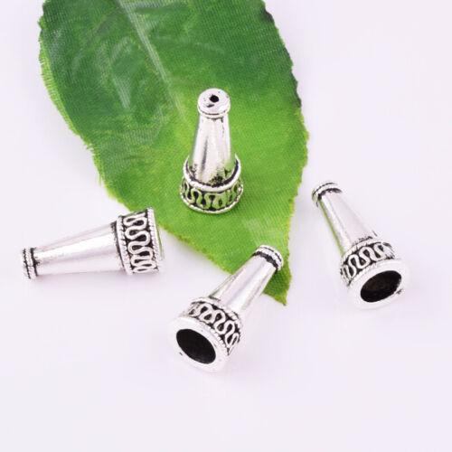 Wholesale Tibetan silver Loose End Bead Caps Jewelry Findings DIY 22x10mm #HT026