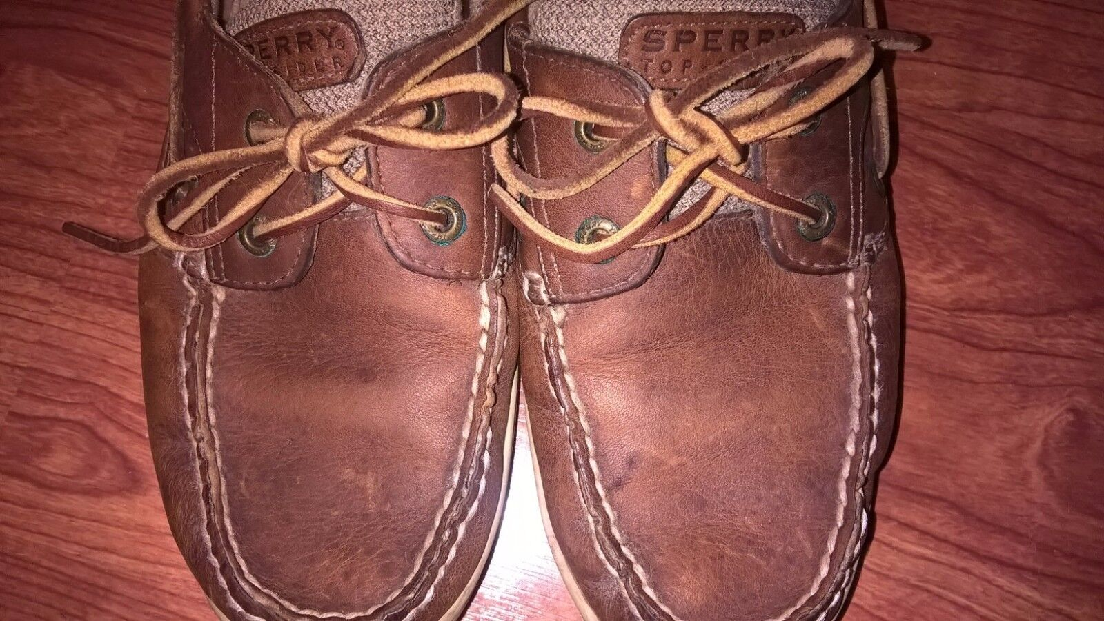 Sperry Braun Top-Sider Blaufish 2-Eye Braun Sperry Boat Schuhes Sz10 EUC 6402ac