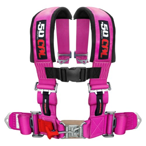 2 Inch 4 Point Harness Seat Belt RZR 1000 Jeep Truck Pink Tyrex Rhino Crawler