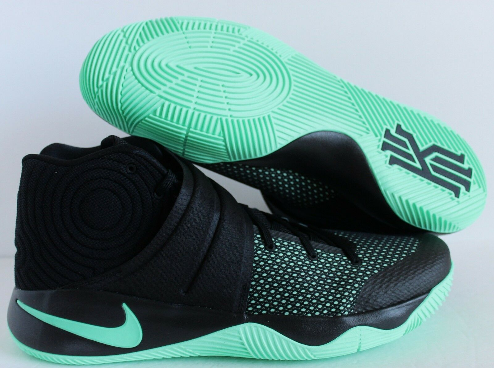 5afd49ee05c5 Nike Kyrie 2 Green Glow MINT Black Basketball Sz 18 819583-007 for ...