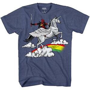 7dc5773db Marvel Deadpool Fun Humor Unicorn Avengers X-Men Tee Adult Mens ...