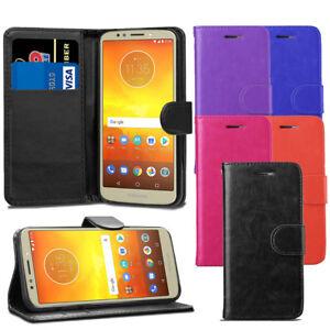 Pour-Motorola-Moto-E5-5-7-034-Case-Premium-Portefeuille-En-Cuir-Flip-Case-Cover-ecran