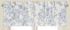 """CLEMENTINA DUSK C&F Enterprises Valance - 15.5""""Lx 72""""W - Blue, Off-White Floral"""