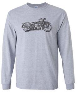 Vintage-INDIAN-Mororcycle-LONG-SLEEVE-T-shirt-Harley-Chopper-Sturgis-Biker