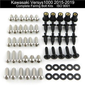 Steel Complet Fairing Bodywork Bolts Kit Fit For Kawasaki Versys 1000 2015-2019