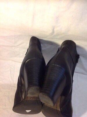 Linea Negro Cuero Tobillo Botas Talla 39