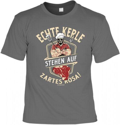 T-Shirt Grillen Urkunde Funshirt inkl Echte Kerle stehen auf zartes Rosa
