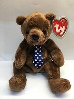Retired TY Beanie Baby Bear ~ Hero ~ Father's Day ~ NWT