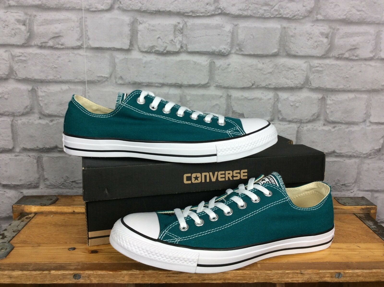 a91d7c56c1a8e CONVERSE MENS UK 9 42.5 GREEN CHUCK TAYLOR ALL STAR OX TRAINERS EU CANVAS  nnwgft8477-Men s Athletic Shoes