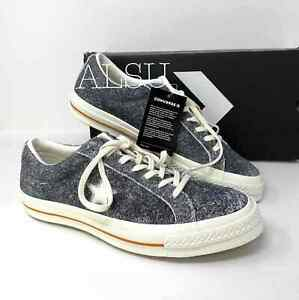 Sneakers-Men-039-s-Converse-One-Star-Low-Top-Hair-Suede-Black-egret-164219C