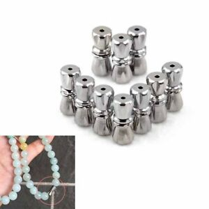 10pcs screw clasps stainless steel screw clasps with safe snap lock fit