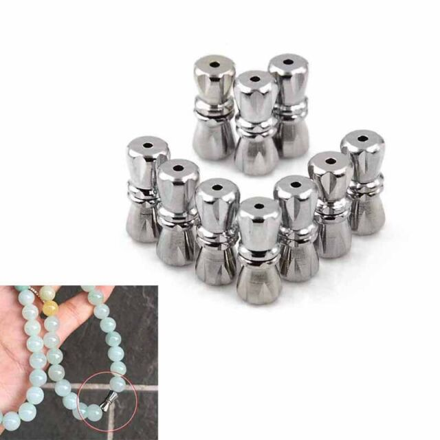 10pcs magnetic clasps stainless steel magnetic clasps with safe snap lock fit te