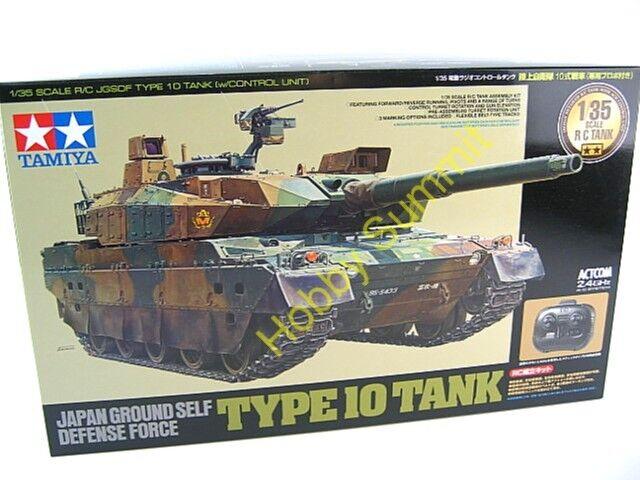 48215  Tamiya 1 35 R C JGSDF TYPE 10 Main Battle Tank Japanese Full Set  2.4GHz