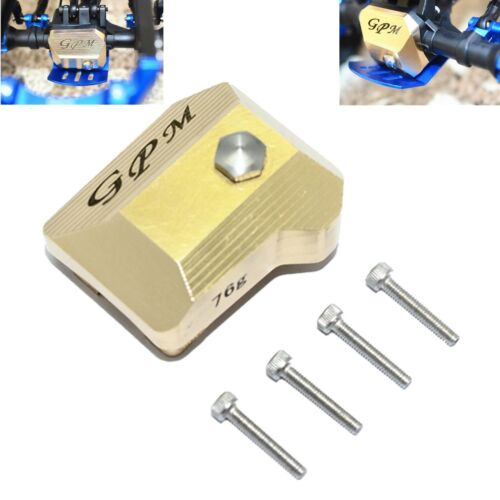 TRX4012AX Brass Front /& Rear Gearbox Axle Outer Cover for 1//10 RC TRAXXAS TRX-4