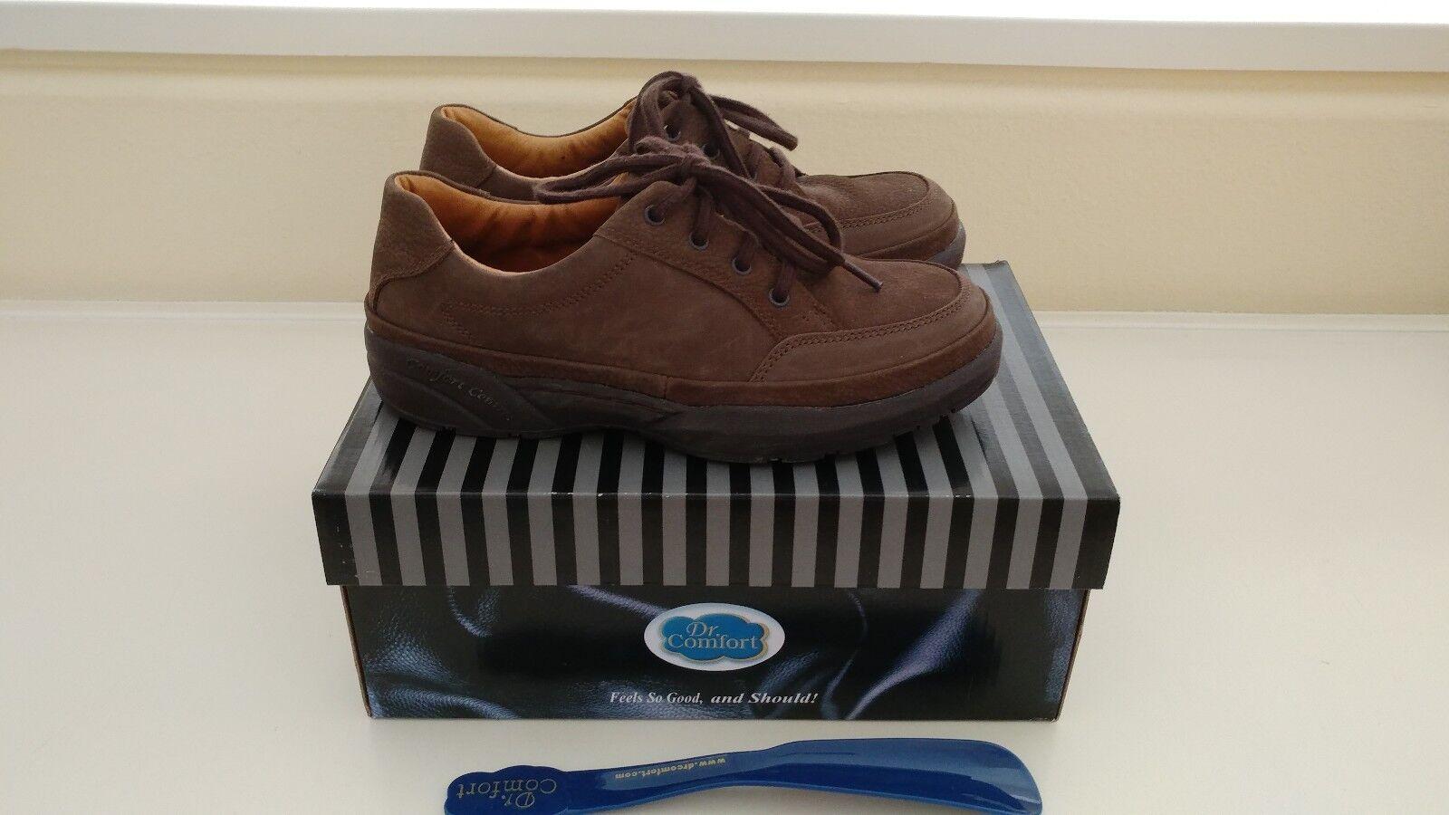 DR. COMFORT SIZE MEN'S JUSTIN CHESTNUT  BROWN SUEDE Schuhe SIZE COMFORT 7-1/2W STK# 5520 524eb4