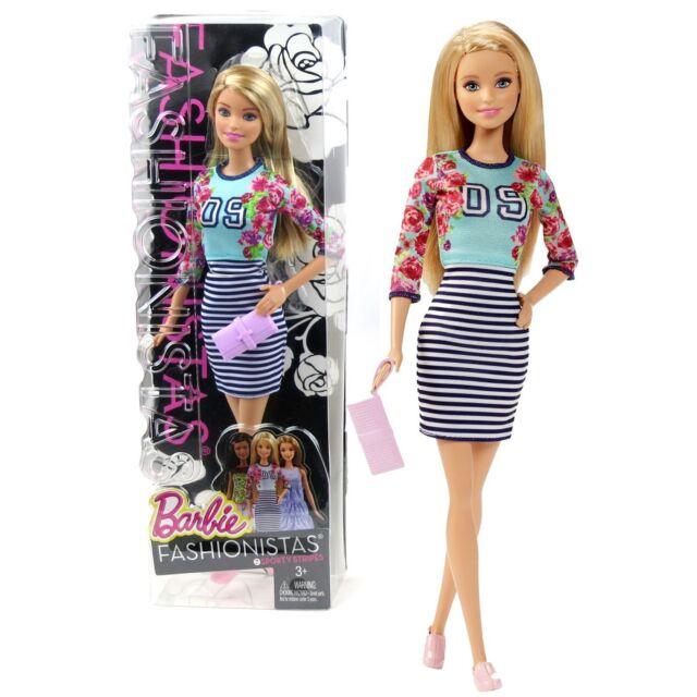 BARBIE Fashionistas Tall Doll #110 Sporty Shine Los Angeles 59 Dress New Sealed
