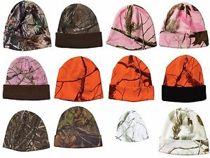 Realtree-Camo-Beanie-Hat-Max-AP-Blaze-Orange-PInk-Snow-White-Camouflage