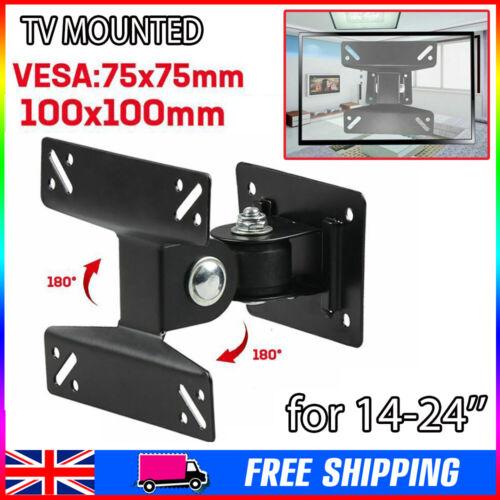 Tilt  Bracket Table Desk Pedestal TV Stand Screen Monitor Riser for LCD LED UK