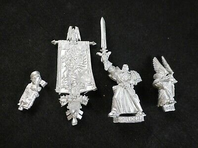 40k Space Marine Dark Angels In Metallo Azrael Supreme Gran Maestro + Timone Set Al Portatore-mostra Il Titolo Originale