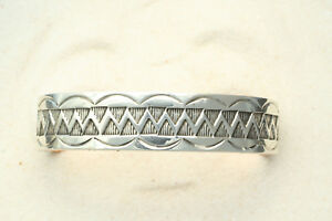 Native-American-Silver-Copper-Cuff-Bracelet-by-Ben-Yellowhorse-Navajo