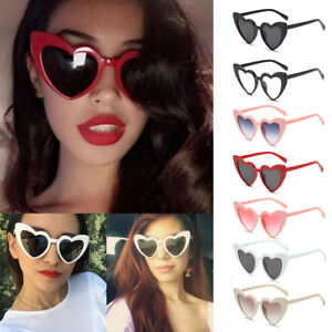 106d17bd8d Image is loading Women-Love-Heart-Shaped-Cat-Sunglasses-Lolita-Vintage-