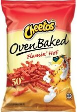 Cheetos Oven Baked Flamin Hot Lot of 3 Large Bags