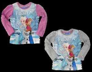 Langarmshirt die Eiskönigin Disney Elsa Anna Frozen Lila Shirt T-Shirt 102-128