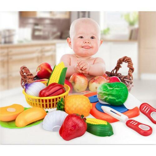 1Set Educational Kids Pretend Play Fruits and Vegetables Cutting Toy shan