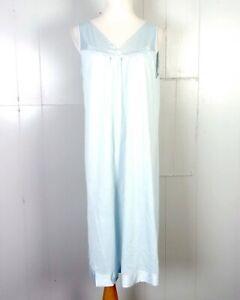 vtg-60s-70s-Vanity-Fair-Light-Blue-Women-039-s-Full-Slip-Nightgown-Lingerie-sz-M