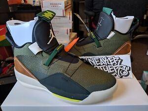 Nike Air Jordan XXXIII 33 Travis Scott Cactus Army Olive Sail Black ... 870e2881d
