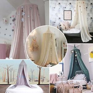 baumwolle betthimmel baldachin moskitonetz fliegennetz rundum nestchen kinder de ebay. Black Bedroom Furniture Sets. Home Design Ideas