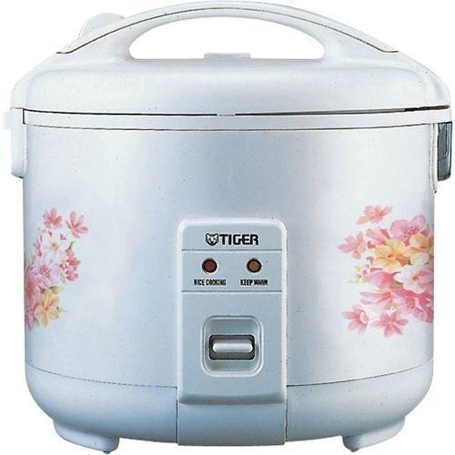 Tiger JNP-1000-FL 5-Cup (non cuits) Cuiseur à riz et plus chaud, Floral Blanc