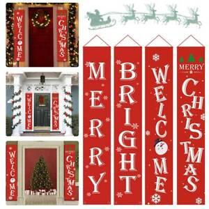 Weclome-Merry-Christmas-Door-Banner-Outdoor-Indoor-Hanging-Flag-Party-Decoration
