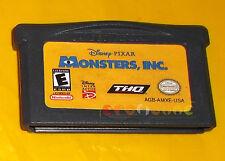 DISNEY PIXAR MONSTERS INC Game Boy Advance Vers Americana ○ SOLO CARTUCCIA - AQ