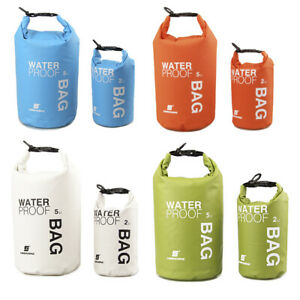 2L//5L Waterproof Dry Sack Storage Bag Travel Kayak Canoe Boating Rafting Camping