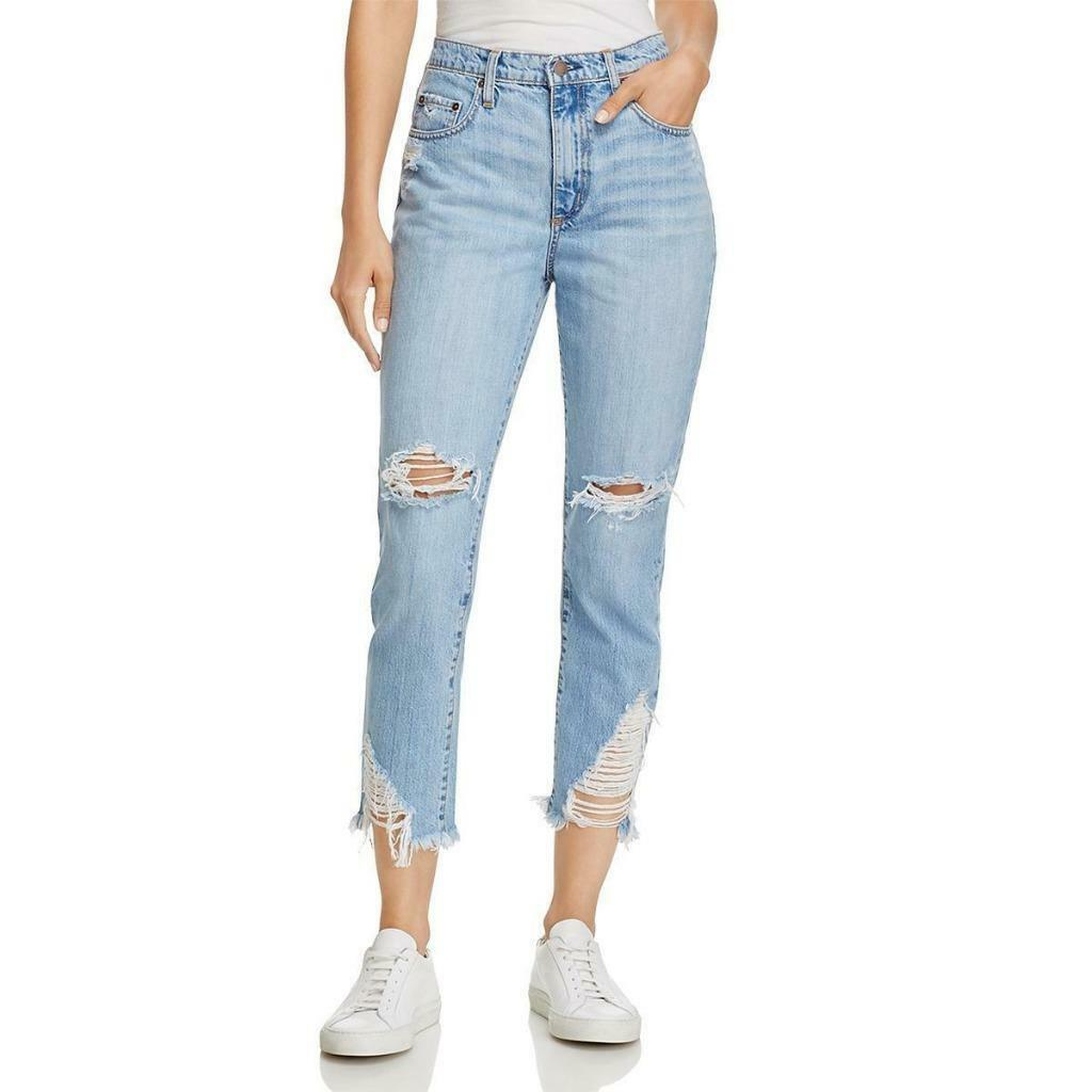 NOBODY  229 Womens Light Wash DESTROYED High Rise SKINNY JEANS SZ 26 NWT