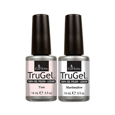 EzFlow TruGel - French Manicure Set - Marshmallow & Tutu - 0.5oz / 14ml