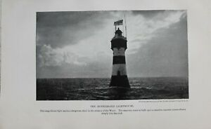 1913-Faro-Estampado-The-Rothersand-Faro-Estuario-Of-The-Weser