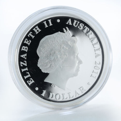 "2011 AUSTRALIA 1 DOLLAR /""BATTLE of TOBRUK 1941/"" WWII 1 Oz SILVER PROOF COLOURED"