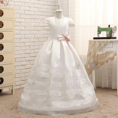 Precioso Vestido De Primera Comunión Para Niñas De 8 A 14 Años Ebay