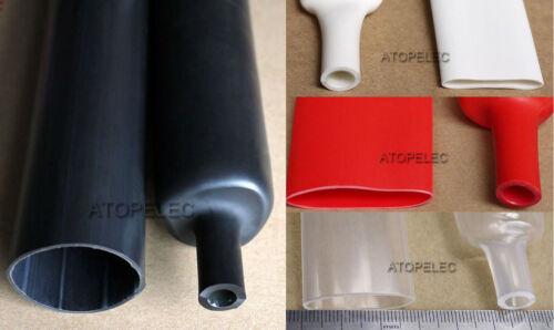 Adhesivo 1.6-25.4mm de diámetro forrado 3:1 Calor Shrink Tubo de doble pared Impermeable