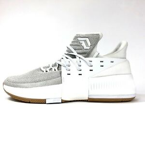Adidas Dame 3 White Grey Gum BW0323 Mens Size 10.5 Basketball Shoes ... 178b993c8